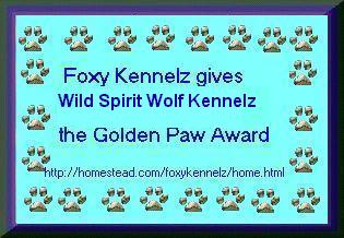 Thanx Foxy Kennelz!