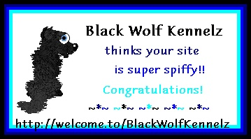 Thanx Black Wolf Kennelz!