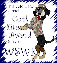 Thanx Wild Card Kennelz!