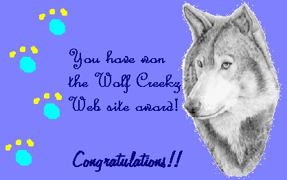 Thanx Wolf Creekz!