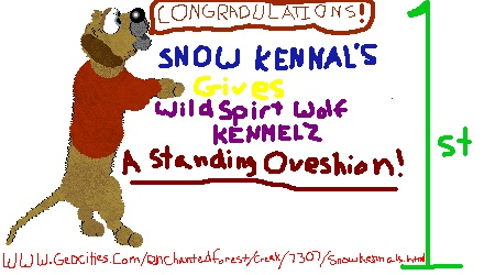 Thanx Snow Kennels!